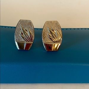 Other - Vintage Silver Tone Reeds Cuff Links